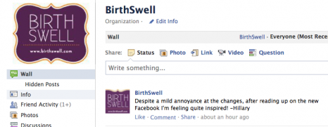 Post image for How will the new Facebook changes affect Birth and Breastfeeding Pros?