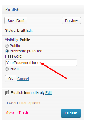 how to make your page password protected image 3
